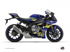 Yamaha R1 Street Bike Flow Graphic Kit Yellow