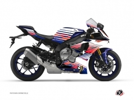 Yamaha R1 Street Bike Flow Graphic Kit Red