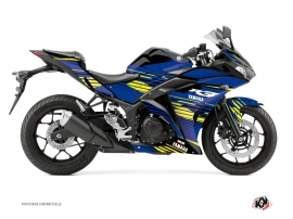 Yamaha R3 Street Bike Flow Graphic Kit Yellow