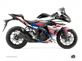 Yamaha R3 Street Bike Flow Graphic Kit Red