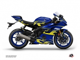 Yamaha R6 Street Bike Flow Graphic Kit Yellow