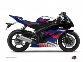 Yamaha R6 Street Bike Flow Graphic Kit Red