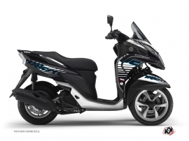 Yamaha TRICITY Maxiscooter Flow Graphic Kit Blue