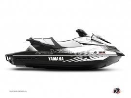 Yamaha VX Jet-Ski Flow Graphic Kit White Black