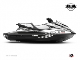 Yamaha VX Jet-Ski Flow Graphic Kit White Black LIGHT