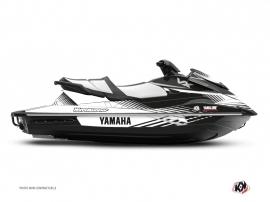 Yamaha VX Jet-Ski Flow Graphic Kit Black White