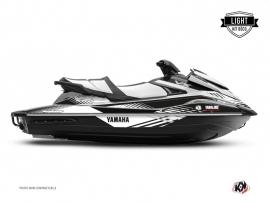 Yamaha VX Jet-Ski Flow Graphic Kit Black White LIGHT