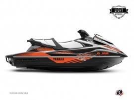 Yamaha VX Jet-Ski Flow Graphic Kit Black Orange LIGHT