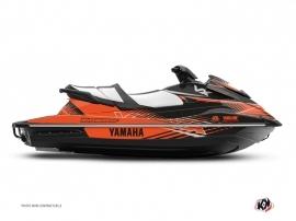 Yamaha VX Jet-Ski Flow Graphic Kit Black Orange