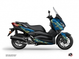 Yamaha XMAX 400 Maxiscooter Flow Graphic Kit Blue