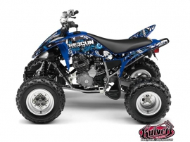 Yamaha 250 Raptor ATV Freegun Graphic Kit Blue