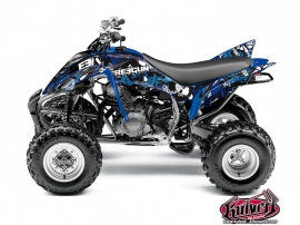 Yamaha 350 Raptor ATV Freegun Graphic Kit Blue