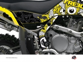 Graphic Kit Frame protection ATV Freegun Suzuki 450 LTR Yellow