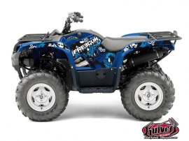 Yamaha 550-700 Grizzly ATV Freegun Graphic Kit Blue