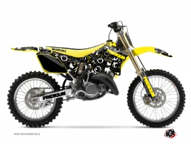 Suzuki 125 RM Dirt Bike Freegun Eyed Graphic Kit Yellow