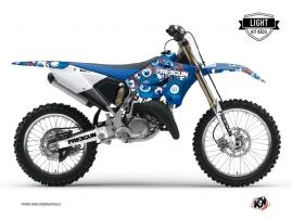 Yamaha 125 YZ Dirt Bike Freegun Eyed Graphic Kit Red LIGHT
