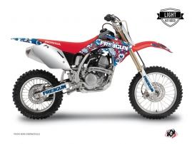 Honda 125 CR Dirt Bike Freegun Eyed Graphic Kit Red LIGHT
