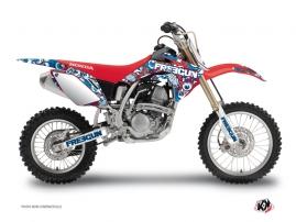 Honda 125 CR Dirt Bike Freegun Eyed Graphic Kit Red
