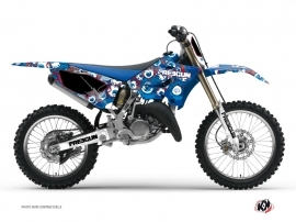 Yamaha 125 YZ Dirt Bike Freegun Eyed Graphic Kit Red
