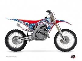 Honda 250 CRF Dirt Bike Freegun Eyed Graphic Kit Red