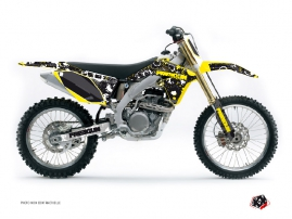 Suzuki 250 RMZ Dirt Bike Freegun Eyed Graphic Kit Yellow