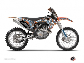 KTM 250 SX Dirt Bike Freegun Eyed Graphic Kit Orange