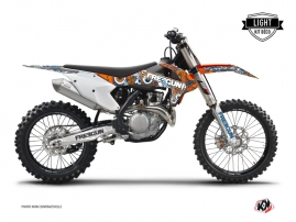 KTM 250 SXF Dirt Bike Freegun Eyed Graphic Kit Orange LIGHT