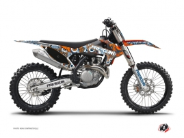 KTM 250 SXF Dirt Bike Freegun Eyed Graphic Kit Orange