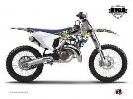 Kit Déco Moto Cross Freegun Eyed Husqvarna FC 350 Bleu Jaune LIGHT