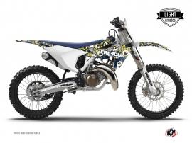 Husqvarna FC 350 Dirt Bike Freegun Eyed Graphic Kit Blue Yellow LIGHT