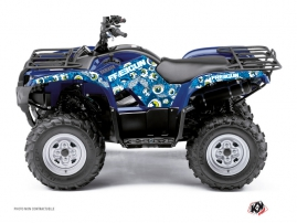 Yamaha 350 Grizzly ATV Freegun Eyed Graphic Kit Blue