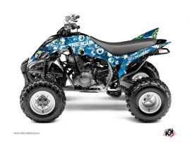Yamaha 350 Raptor ATV Freegun Eyed Graphic Kit Blue