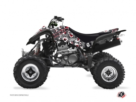 Suzuki 400 LTZ ATV Freegun Eyed Graphic Kit Grey Red