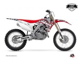 Honda 450 CRF Dirt Bike Freegun Eyed Graphic Kit Red Blue LIGHT