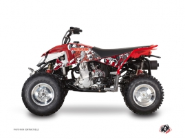 Polaris Outlaw 450 ATV Freegun Eyed Graphic Kit Red Grey