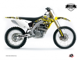 Suzuki 450 RMZ Dirt Bike Freegun Eyed Graphic Kit Yellow LIGHT