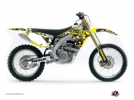 Suzuki 450 RMZ Dirt Bike Freegun Eyed Graphic Kit Yellow
