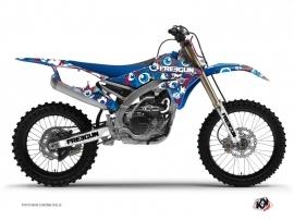 Yamaha 450 YZF Dirt Bike Freegun Eyed Graphic Kit Red