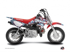 Honda 50 CRF Dirt Bike Freegun Eyed Graphic Kit Red Blue