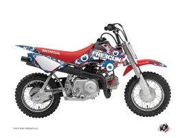 Honda 50 CRF Dirt Bike Freegun Eyed Graphic Kit Red