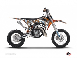 KTM 50 SX Dirt Bike Freegun Eyed Graphic Kit Orange