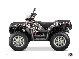 Polaris 550-850-1000 Sportsman Forest ATV Freegun Eyed Graphic Kit Grey Red
