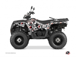 Polaris 570 Sportsman Touring ATV Freegun Eyed Graphic Kit Grey Red