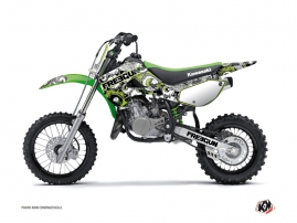 Kawasaki 65 KX Dirt Bike Freegun Eyed Graphic Kit Green
