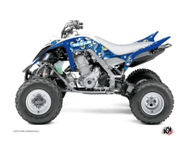 Yamaha 700 Raptor ATV Freegun Eyed Graphic Kit Blue