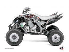 Yamaha 700 Raptor ATV Freegun Eyed Graphic Kit Red