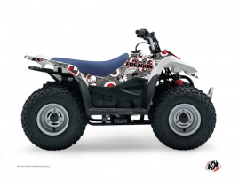 Suzuki 80 LT ATV Freegun Eyed Graphic Kit Grey Red