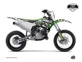 Kawasaki 85 KX Dirt Bike Freegun Eyed Graphic Kit Green LIGHT