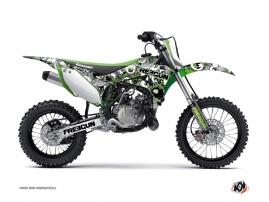 Kawasaki 85 KX Dirt Bike Freegun Eyed Graphic Kit Green