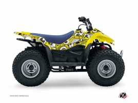Suzuki 90 LTZ ATV Freegun Eyed Graphic Kit Yellow